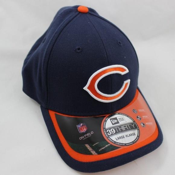 on sale 6377a bd170 New Era Chicago Bears On Field Cap - L XL